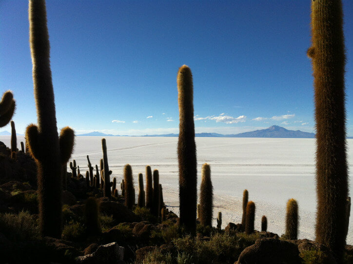 Uyuni Salt Flats are the largest in the world